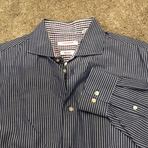 Isaac Mizrahi striped dress shirt